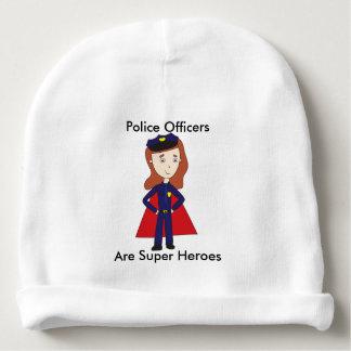 Superhéros de policiers (femelles) bonnet de bébé