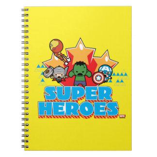 Superhéros de vengeur de Kawaii graphiques Carnet