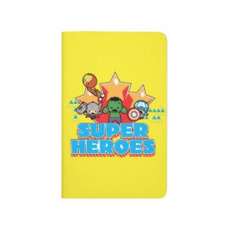 Superhéros de vengeur de Kawaii graphiques Carnet De Poche
