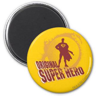 Superhéros d'original de Superman Magnet Rond 8 Cm