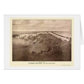 Supérieur, carte panoramique de WI - 1913