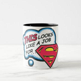 Superman 74 tasse 2 couleurs
