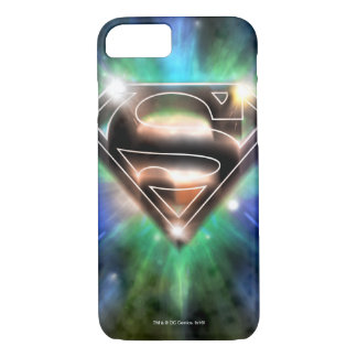 Superman a stylisé le logo brillant d'éclat de | coque iPhone 7