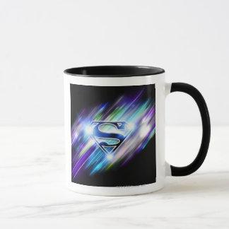 Superman a stylisé le logo brillant d'éclat de tasse