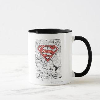 Superman a stylisé le logo comique chiffonné par | tasses