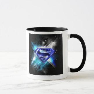 Superman a stylisé le logo en cristal blanc bleu mugs