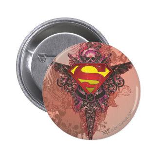 Superman a stylisé le logo grunge de conception de badges