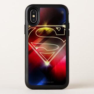 Superman a stylisé le logo jaune brillant