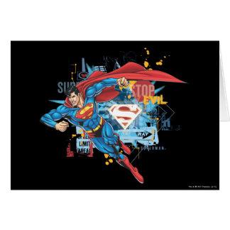 Superman - arrêtez le mal carte de vœux