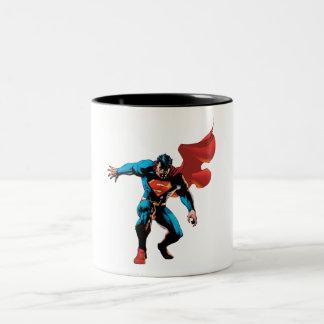 Superman dans l'ombre tasse 2 couleurs