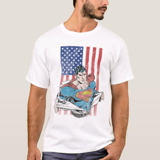 Superman et drapeau des USA T-shirt