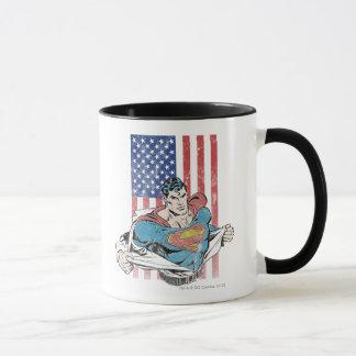 Superman et drapeau des USA Tasse