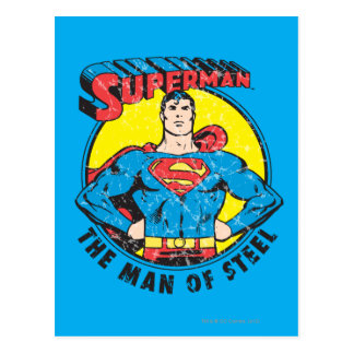 Superman l'homme de l'acier cartes postales