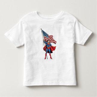 Superman tenant le drapeau des USA T-shirt Pour Les Tous Petits