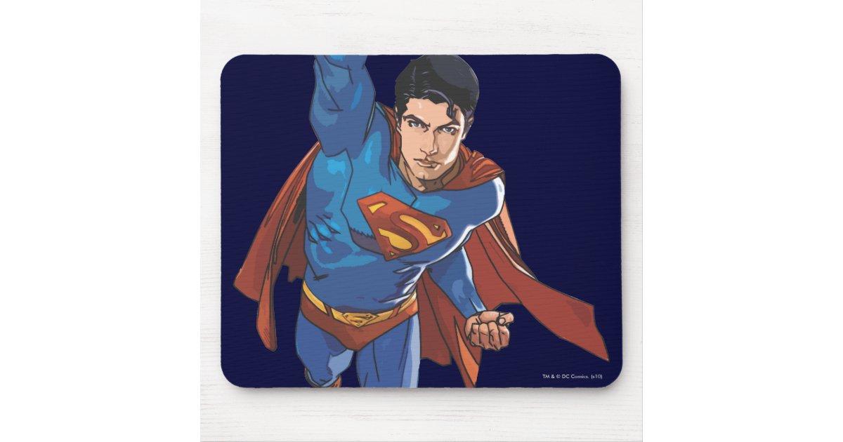 Superman volant en avant tapis de souris zazzle for Surface minimum bureau code du travail