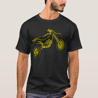 Supermoto jaune t-shirt