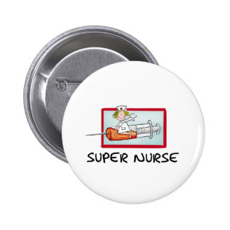 supernurse - infirmière humoristique de bande dess pin's