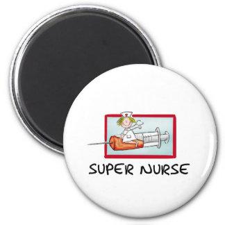 supernurse - infirmière humoristique de bande dess magnets pour réfrigérateur