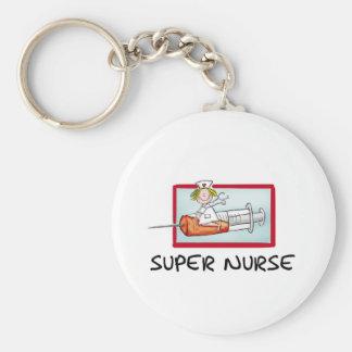 supernurse - infirmière humoristique de bande dess porte-clés