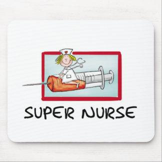 supernurse - infirmière humoristique de bande dess tapis de souris
