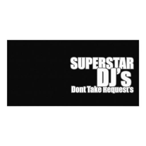 Superstar DJ Cartes De Vœux Avec Photo
