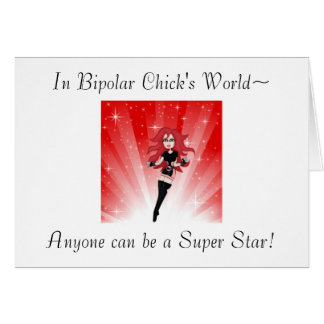 Superstar maniaque cartes de vœux