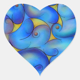 Supliussa - manière laiteuse sticker cœur