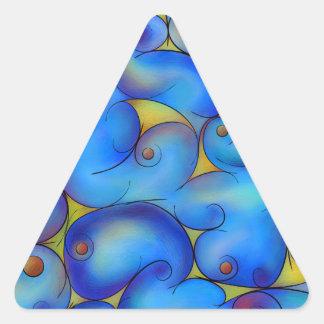 Supliussa - manière laiteuse sticker triangulaire