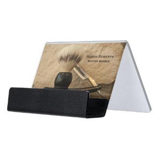 Support Carte De Visite Brosse de rasage droite de rasoir de bord de