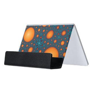 Support Carte De Visite Bulles oranges. Modèle abstrait