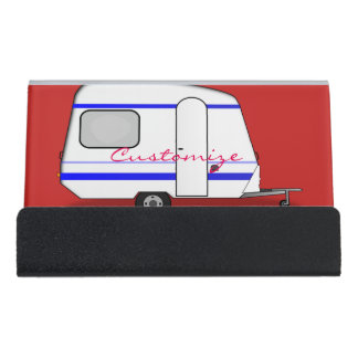 Support Carte De Visite Caravane gitane Thunder_Cove de remorque minuscule
