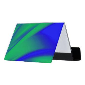 Support Carte De Visite Flux de bleu et de vert
