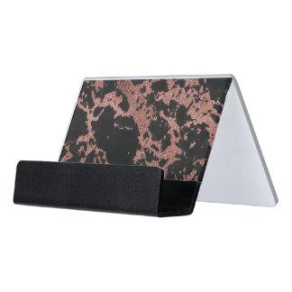 Support Carte De Visite Image rose de texture de scintillement d'or de