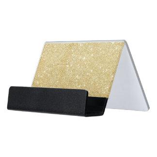 Support Carte De Visite Scintillement élégant d'or d'étincelle