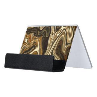 Support Carte De Visite Style de marbre magnifique - brun chaud