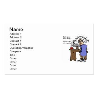 Support d unité de disque dur humoristique carte de visite