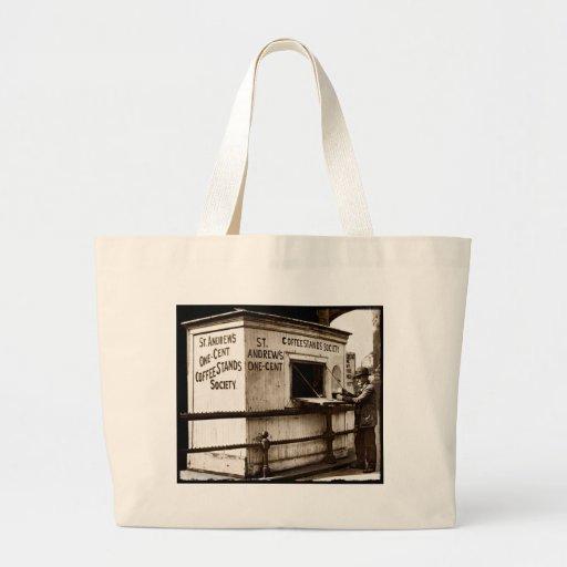 Support de café de penny de l'ère une de dépressio sacs de toile
