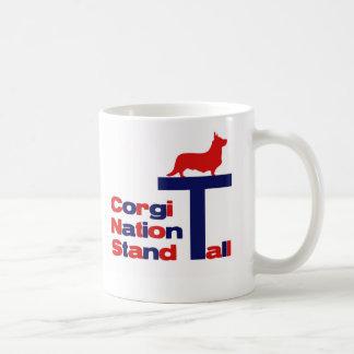 Support de nation de corgi grand mug