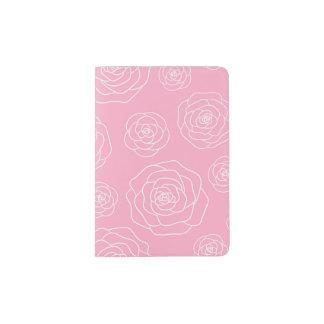 Support de passeport de découpe de roses protège-passeport