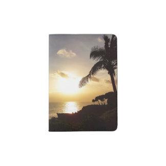 Support de passeport de silhouette de coucher du protège-passeport