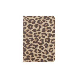 Support de passeport d'empreinte de léopard protège-passeport
