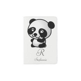 Support de passeport. Panda de monogramme Protège-passeport