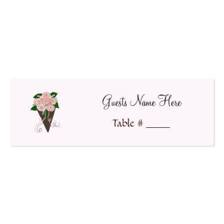 Support d'endroit de bouquet de mariage modèle de carte de visite