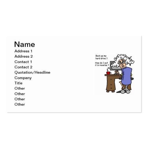 Support d'unité de disque dur humoristique carte de visite