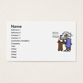 Support d'unité de disque dur humoristique cartes de visite