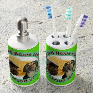 Support et savon Dispencer de brosse à dents de Set De Salle De Bain