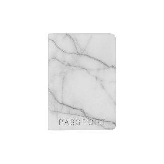 Support gris-clair de marbre de passeport protège-passeports
