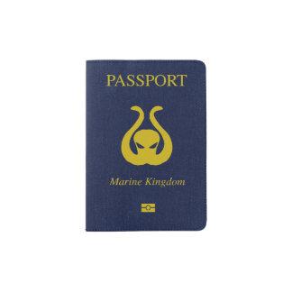Support marin de passeport de royaume protège-passeport