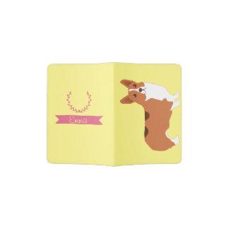 Support nommé fait sur commande adorable de protège-passeport