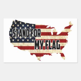 Support pour mon autocollant de drapeau américain
